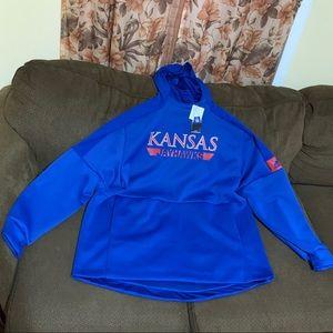 Adidas Kansas Jayhawks Hoodie, Mens XXL (New)
